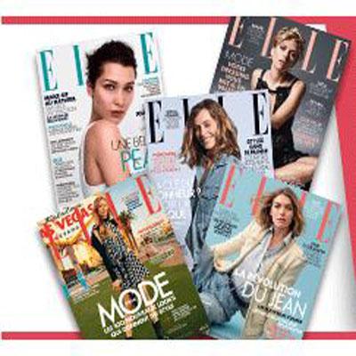 Recevez gratuitement 9 numéros d'Elle magazines