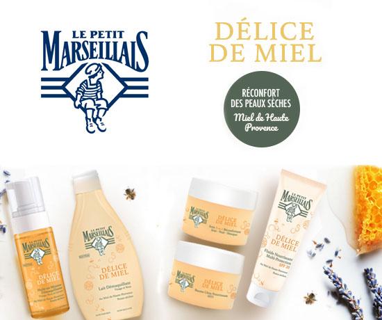 Testez les Soins Visage Délices de Miel Le Petit Marseillais