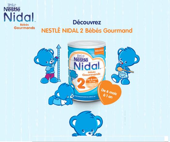 Lait en poudre pour bébé Nestlé