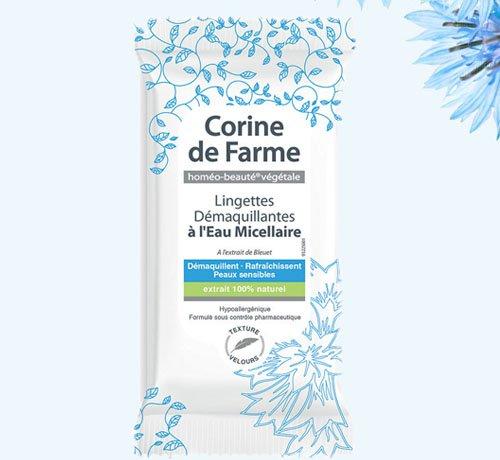 Echantillons lingettes démaquillantes Corine de Farme