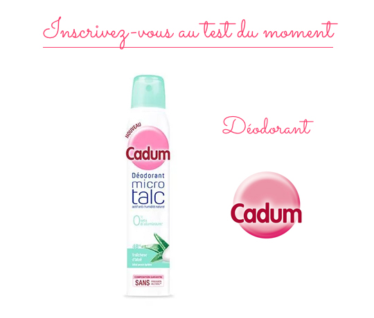 Déodorant Fraîcheur d'Aloé Cadum