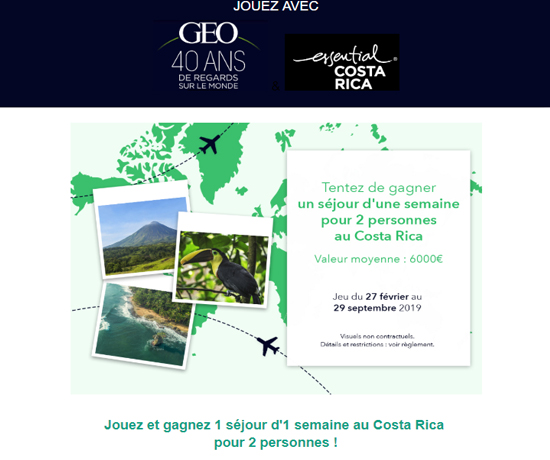 Une semaine gratuite pour 2 personnes au Costa Rica