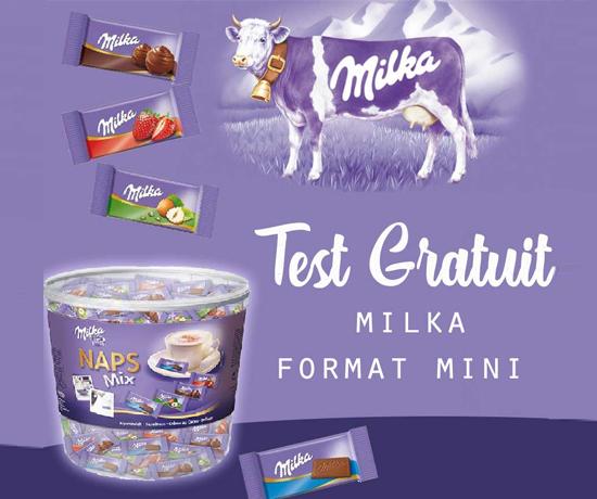 Test Club vous offre des chocolats MILKA