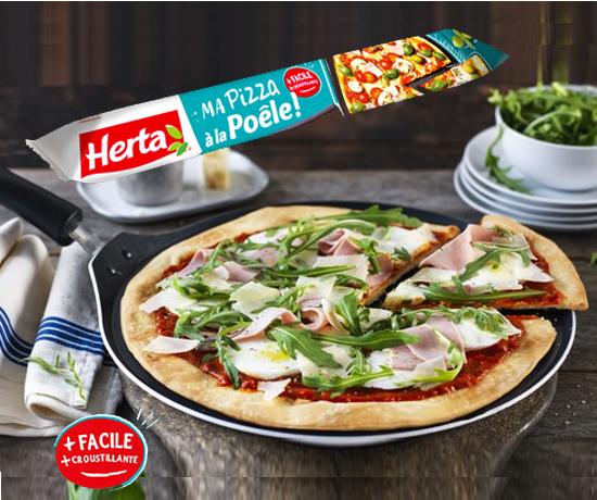 Pâte à pizza à la poêle HERTA
