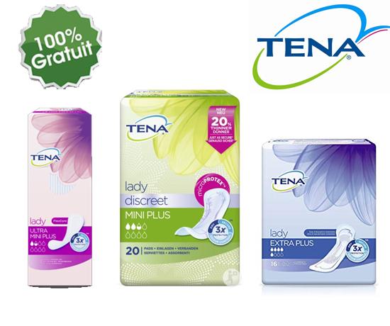 Serviettes hygiéniques TENA gratuites