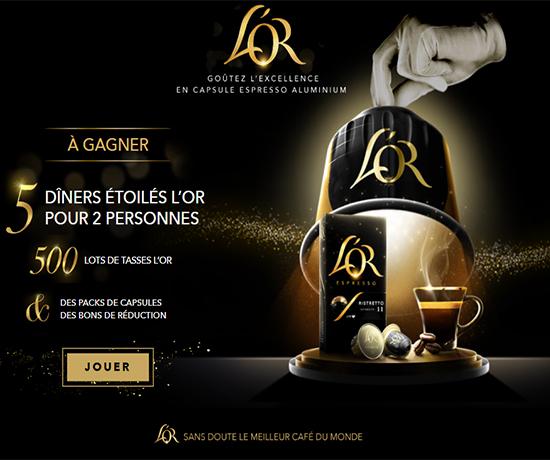 Jeu L'Or Espresso – De nombreux lots à remporter