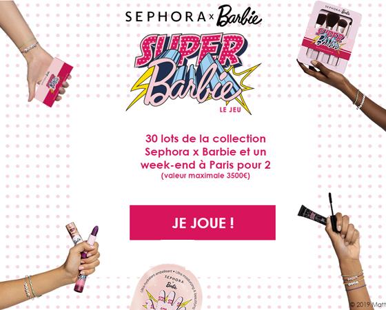 Jeu Concours sephora x barbie