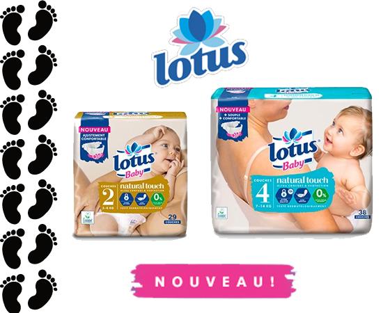 Couches bébé Lotus