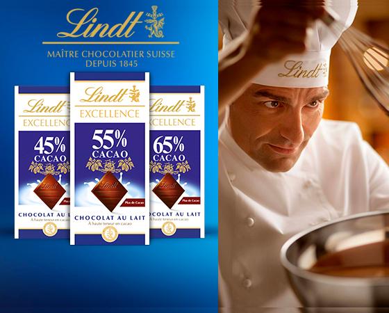 Tablettes de chocolat au lait LINDT