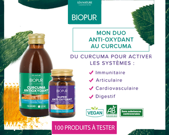 Cocktail curcuma antioxydant de Biopur