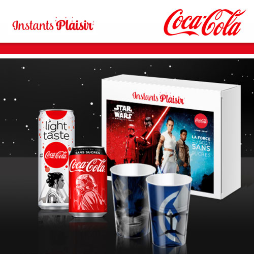 Canettes Coca-Cola gratuites Star Wars