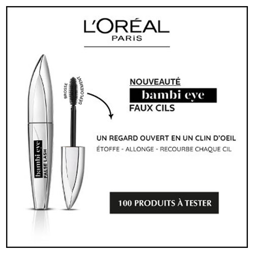 mascar l'Oréal test gratuit effet faux cils TestClub
