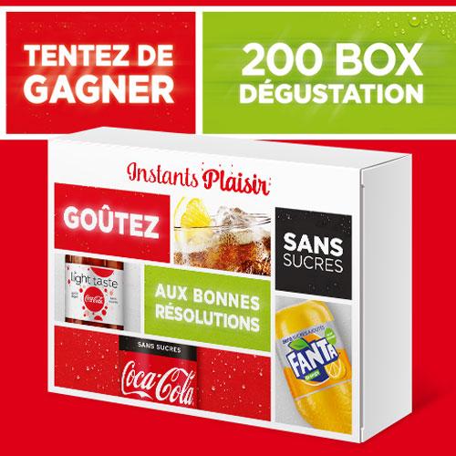 box coca-cola et fanta gratuite