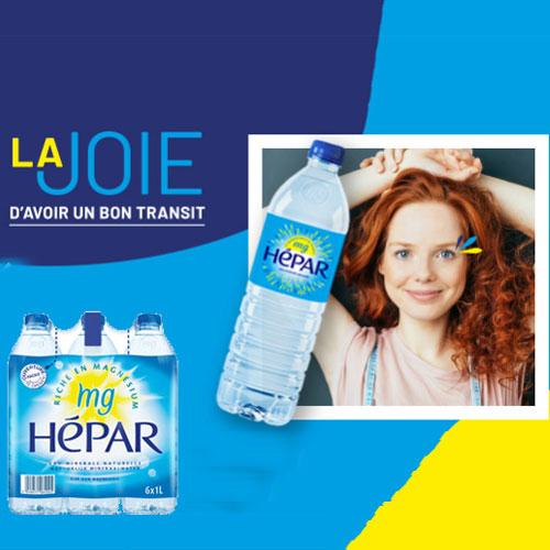 pack d'eau Hépar gratuit