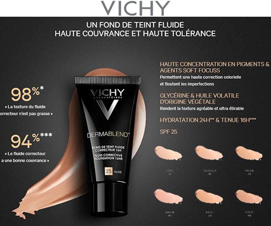Fluide correcteur Dermablend Vichy gratuit