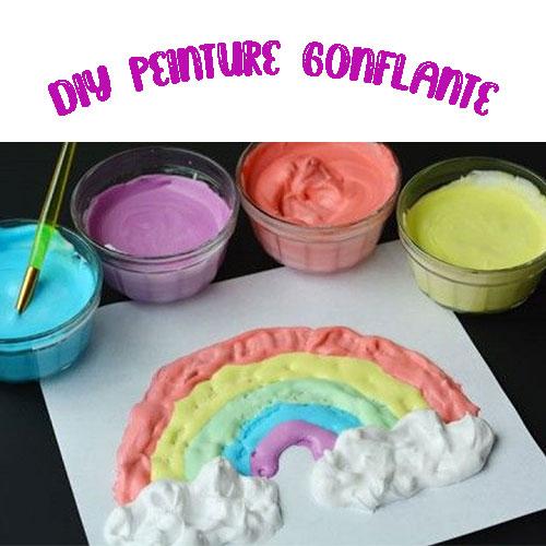 DIY peinture gonflante enfants gratuit