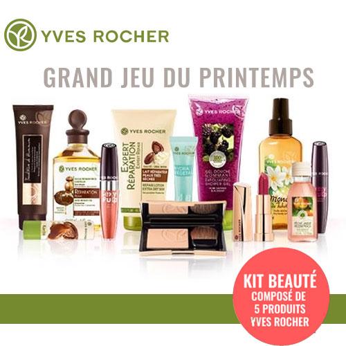 Produits de beauté Yves Rocher gratuits