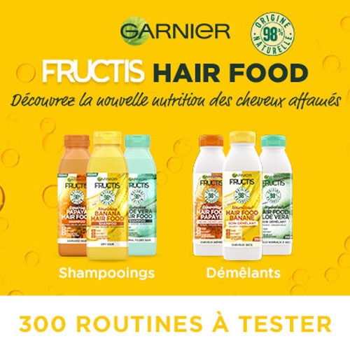 Routine soins cheveux Fructis Hair Food